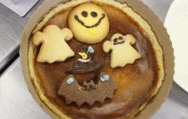 子供お菓子作り教室①ハロウィン風チーズケーキ